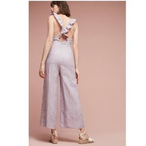 Anthropologie Ruffled Elevenses Jumpsuit